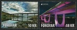"FEROE ISLANDS/ FAROE/ FÄRÖER/ FØROYAR - EUROPA 2018 - ""PUENTES.- BRIDGES - BRÜCKEN - PONTS"" - SERIE De 2 V, - 2018"
