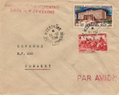 Guinée Guinea Lettre Banque Afrique Occidentale N'Zérekoré 1959 Bank Cover Brief Carta - French Guinea (1892-1944)