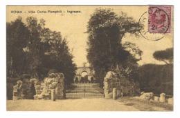 971 - ROMA VILLA DORIA PAMPHILI INGRESSO 1921 - Parks & Gardens