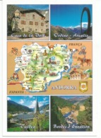 Souvenirs D'Andorre , Carte Du Pays, Carte Postale Neuve, Non Circulée. - Andorre
