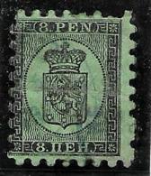 "Finlande 1866-70 "" 8 P."" Yvert 6, Dent Percés En Serpentins, Oblitere - 1856-1917 Russian Government"