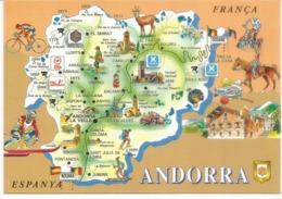 Souvenirs D'Andorre L'été, Carte Du Pays, Carte Postale Neuve, Non Circulée. - Andorra