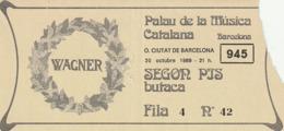 TICKET - ENTRADA / PALAU DE LA MUSICA CATALANA - 1989 - Tickets - Entradas