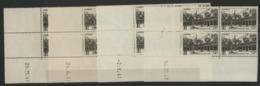 """N° 499 (x16) ** (MNH). Quatre Coins Datés Différents (voir Détail) / Blocs De Quatre """"Hôtel Dieu De Beaune"""". - Hoekdatums"""
