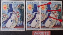 R1591/475 - 1963 - CHAGALL - N°1398 TIMBRES NEUFS** - VARIETE ➤➤➤ Décalage Du Violet Vers La Droite (et Vers La Gauche) - Variétés Et Curiosités