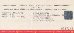 TICKET - ENTRADA / FESTIVAL D'ESTIU DE BARCELONA - GREC 92 - Tickets - Entradas