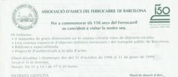 TICKET - ENTRADA / ASSOCIACIO AMICS FERROCARRIL BARCELONA 1998-1999 - Tickets - Entradas