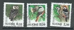 Finlande YT N°1180/1182 Chouette Rougequeue Pic à Dos Blanc Oblitéré ° - Finland