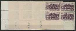 """N° 500 (x16) ** (MNH). Quatre Coins Datés Différents (voir Détail) / Blocs De Quatre """"Angers"""". - Hoekdatums"""