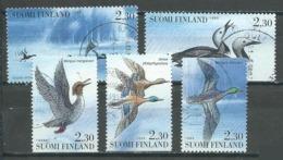 Finlande YT N°1189/1193 Oiseaux Aquatiques Oblitéré ° - Finlande
