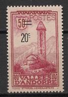 Andorre - 1935 - N°Yv. 46 - 20c Sur 50c Lie De Vin - Neuf Luxe ** / MNH / Postfrisch - Unused Stamps