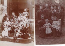 2 Photos -  Tirages Albuminés - Portrait Amateur - Familles (Ca 1900) - 10 - Personnes Anonymes