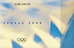 Switzerland Cancelled Booklet - Summer 2000: Sydney