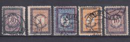 Yugoslavia Kingdom 1933 Porto Mi#69-73 Used - Gebraucht