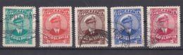 Yugoslavia Kingdom, King Alexander 1935 Mi#315-319 Used - Gebraucht