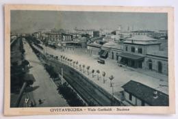 CIVITAVECCHIA VIALE GARIBALDI STAZIONE  1933 - Civitavecchia
