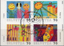 Switzerland Cancelled Booklet Pane - Fairy Tales, Popular Stories & Legends