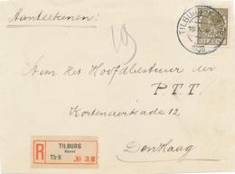 Nederland - 1935 - 21 Cent Wilhelmina Type Veth Op R-coverfront Van TILBURG-KORVEL Naar Den Haag - Front Only - 1891-1948 (Wilhelmine)
