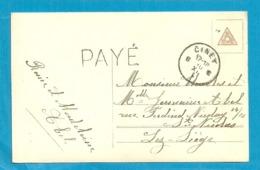 Kaart Noodstempel Stempel  PAYE Met Stempel CINEY - Foruna (1919)