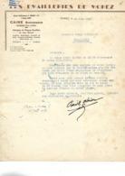 2 Factures 1948-53 / 39 MOREZ / CARE Anc RENAUD  / Emaillerie De Morez, Plaques émaillées / Horlogerie, Lunetterie - 1900 – 1949