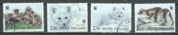 Finlande YT N°1166/1169 Renard Arctique Oblitéré ° - Finlande