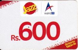 PAKISTAN - JAZZ/WaridLTE Prepaid Card Rs.600, Exp.date 14/11/20, Used - Pakistan