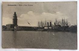 CIVITAVECCHIA  MOLO E FARO TRAIANO  1911 - Civitavecchia