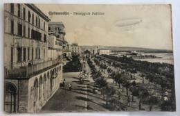 CIVITAVECCHIA  PASSEGGIATA PUBBLICA     DIRIGIBILE   1910 - Civitavecchia
