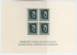 DR  Block 7, Postfrisch *, 48. Geburtstag AHs, 1937 - Blocks & Kleinbögen