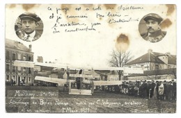 MONTLHERY - Atterrissage Du Biplan Farman Monté Par C. Weymann, Aviateur - 1er Mars 1911 - CARTE PHOTO - Montlhery