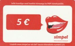 PREPAID PHONE CARD ESTONIA (PK1696 - Estland