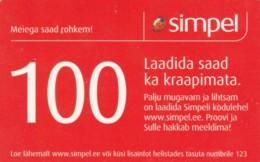 PREPAID PHONE CARD ESTONIA (PK1700 - Estland