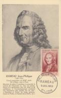 Carte  Maximum  1er  Jour   FRANCE   Jean  Philippe   RAMEAU     DIJON    1953 - Cartoline Maximum