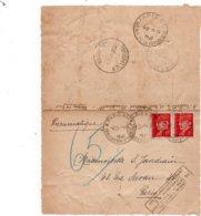 PNEUMATIQUE - Carte Lettre Avec Timbre Pétain - Divers Cachets Et Griffe - Altri