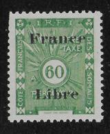 COTE FRANCAISE DES SOMALIS 1943 TAXES YT 35** - Côte Française Des Somalis (1894-1967)
