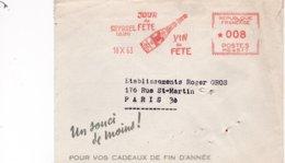 LSC 18 X 63 - EMA - SEYSSEL (Ain) - Jour De Fête - Vin De Fête  (Bouteille De Vin De Seyssel) - Storia Postale