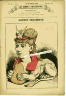 LES HOMMES D'AUJOURD'HUI No 16 Du 27 Décembre 1878. Sophie CROIZETTE 3 Pages De Textes. Dessin De GILL - Livres, BD, Revues