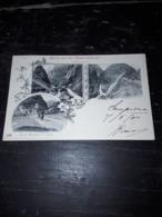 Cartolina Postale, Postcard 1900, Simplon Strasse, Gruss Aus Der Gondo Schlucht - VS Wallis