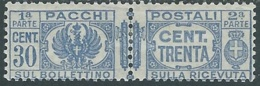 1927-32 REGNO PACCHI POSTALI 30 CENT MH * - RB14-2 - Paketmarken