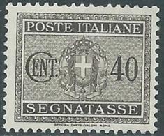 1934 REGNO SEGNATASSE 40 CENT MNH ** - RB8 - 1900-44 Vittorio Emanuele III