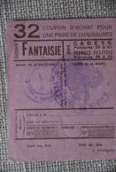 Rationnement - Bon D'achat De Chaussures - Historische Documenten
