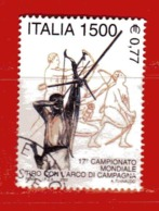 (Lr) Italia° - 2000 - TIRO CON L'ARCO. Unif. 2526.  Usato. - 1991-00: Usados