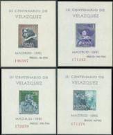 1961 SPAGNA FOGLIETTI VELASQUEZ MNH ** - RB7-10 - Blocs & Feuillets