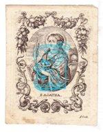 DP Maria Anna Droesaet ° Etterbeek 1887 † 1834 X Petrus Pauwels / Gravure A. Voet - H. Agatha - Andachtsbilder