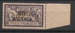 Port Said - 1921 - N°Yv. 58 - Merson 60m Sur 2f Violet - Bord De Feuille - Neuf Luxe ** / MNH / Postfrisch - Nuovi