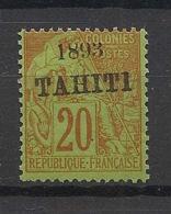 Tahiti - 1893 - N°Yv. 25 - Alphée Dubois 20c Brique Sur Vert - Neuf Luxe ** / MNH / Postfrisch - Nuevos