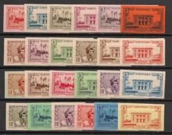 Martinique - 1933-38 - N°Yv. 133 à 154 - Série Complète - Non Dentelé / Imperf. - Neuf * / MH VF - Ungebraucht