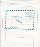 FRANCE - AEROGRAMME  SPECIMEN BLEU CONCORDE 1.60  - CACHET 92 VILLECOURS - CRE -PARIS -EM 11.10.1979  / TBS - Entiers Postaux