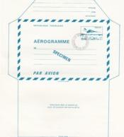 FRANCE - AEROGRAMME  SPECIMEN BLEU CONCORDE 1.60 POUR LE CENTRE D'INSTRUCTION DE LA POSTE - CLERMONT FD 63 / TBS - Postwaardestukken