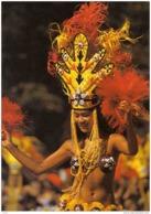 Carte Postale Polynésie Française Tahiti Jeune Tahitienne Danseuse étoile  Du Groupe Fetia Trés Beau Plan - Tahiti